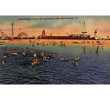 Vintage Pontchartrain Beach Artwork  Photographic Print