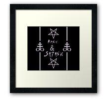 Manic & Satanic Framed Print
