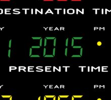 BTTF - Back To The Future - Time Travel Display Dashboard Sticker