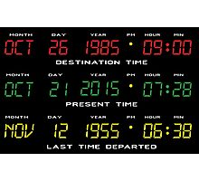 BTTF - Back To The Future - Time Travel Display Dashboard Photographic Print