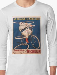 Vintage poster - Michelin Long Sleeve T-Shirt