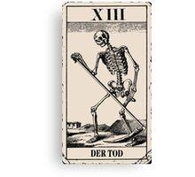 Der Tod / Death Tarot Card Canvas Print