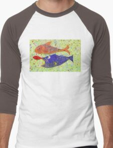 FISH PLAYING NAME THAT TUNA Men's Baseball ¾ T-Shirt