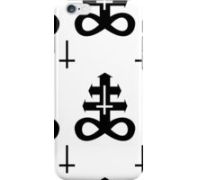 Sulphur Cross (black on white) iPhone Case/Skin