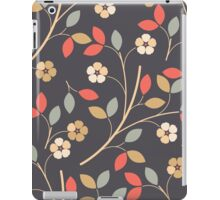 Decorative flowers and leaves iPad Case/Skin