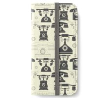 Vintage phones iPhone Wallet/Case/Skin