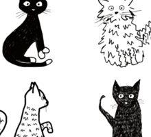 Cats, cats, cats. Sticker