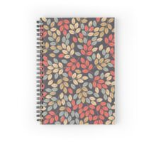 Pattern with autumn leaves Spiral Notebook
