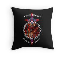 Never Forget the fallen heroes Throw Pillow