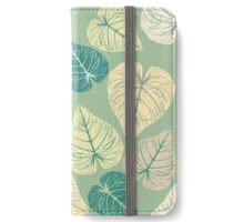 Pattern with stylish leaves iPhone Wallet/Case/Skin