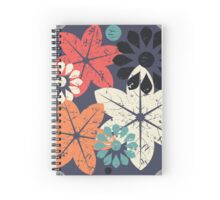 Abstract flowers Spiral Notebook