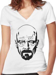Heinsberg (Black Theme) Women's Fitted V-Neck T-Shirt