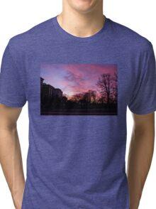 Sunset at Boston Common 3/1/16 Tri-blend T-Shirt
