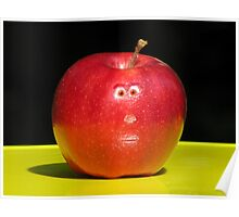 RED APPLE FACE Poster