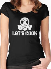 Let's Cook (White Theme) Women's Fitted Scoop T-Shirt