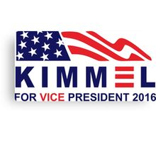 vote jimmy kimmel for vice president Canvas Print