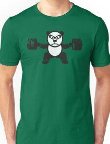 Cute Weightlifting Panda Bear (Squat) Unisex T-Shirt