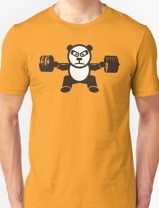 Cute Weightlifting Panda Bear (Squat) Unisex T-Shirt