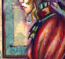 Woman in an Art Gallery Sticker