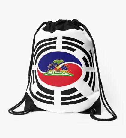Korean Haitian Multinational Patriot Flag Series Drawstring Bag