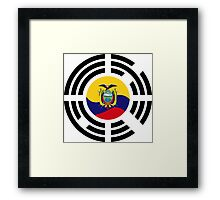 Korean Ecuadorian Multinational Patriot Flag Series Framed Print