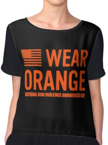 wear orange Chiffon Top