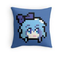 Pixel Cirno Throw Pillow
