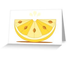 Bitter lemon wedge Greeting Card