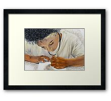 Portrait of an Artist Framed Print
