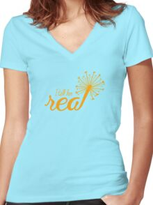 Real Women's Fitted V-Neck T-Shirt