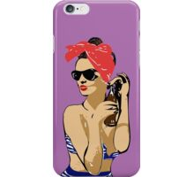 Pin Up Brunette iPhone Case/Skin