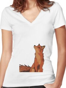 Young Fox Women's Fitted V-Neck T-Shirt