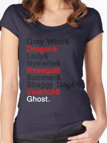 The Direwolves and The Dragons Women's Fitted Scoop T-Shirt