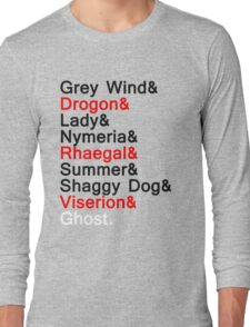 The Direwolves and The Dragons Long Sleeve T-Shirt