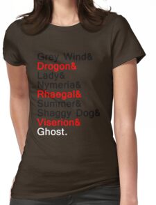 The Direwolves and The Dragons Womens Fitted T-Shirt