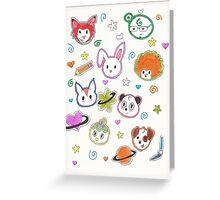 Chibi animals  Greeting Card