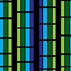 Striped green and blue window design by EucalyptusBear