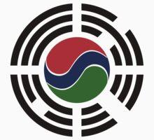 Korean Gambian Multinational Patriot Flag Series Kids Tee