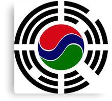 Korean Gambian Multinational Patriot Flag Series Canvas Print