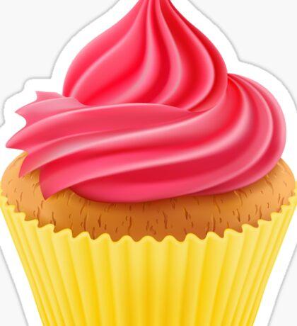 Cupcake Baking Party Sticker Sticker