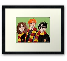 Magical Students from Hogwarts Framed Print