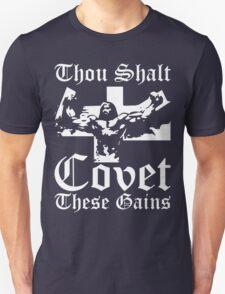 Thou Shalt Covet These Gains (Jesus) Unisex T-Shirt
