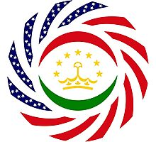 Tajik American Multinational Patriot Flag Series Photographic Print