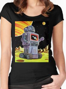 PURPLE ROBOT Women's Fitted Scoop T-Shirt