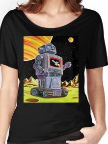 PURPLE ROBOT Women's Relaxed Fit T-Shirt