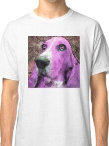 Basset Hound - Pop Art Pink Classic T-Shirt