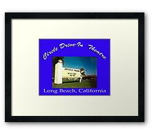 Circle Drive-In Theater Framed Print