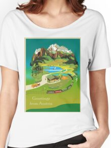 Vintage poster - Austria Women's Relaxed Fit T-Shirt