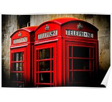 Red Phone Booth Poster