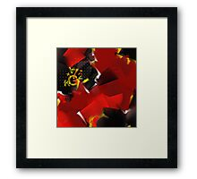 Red Desending Framed Print